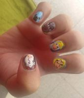 Scooby doo nail art by iman imran on deviantart disney princess nail art 2 by iman imran prinsesfo Image collections