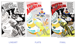 Flat for Jack Kirby Fighting American by hughdidit