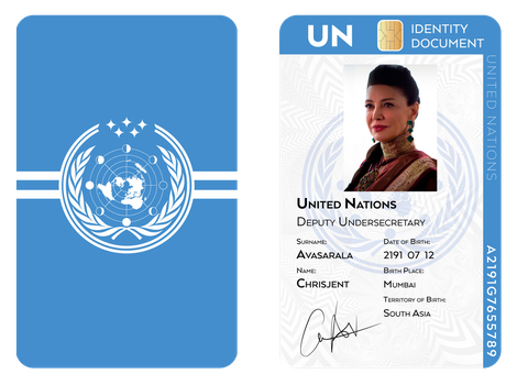 Chrisjen Avasarala UN Identity Document by SalesWorlds