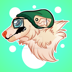 Hipster doggo by Draw-Toon