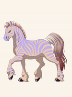 Caspian Peach made on fantasy horse maker by QuestionUnicorn