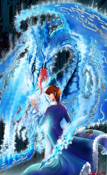 The fourth Blue-eyes white dragon by zelka94