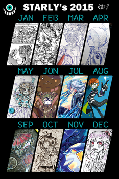 MY 2015 ART Summary !! by Lilu-Leloo
