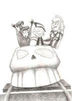 Dib, Lydia and Beetlejuice by Maran-Zelde