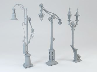 Steampunk Street Lamps by andreysc7