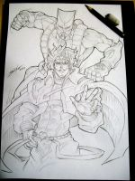 Dio and The World! Sketch by Sano-BR