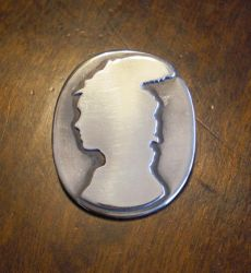 Silver silhouette cameo by fairyfrog