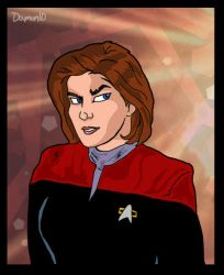 Janeway toon by Damon1984