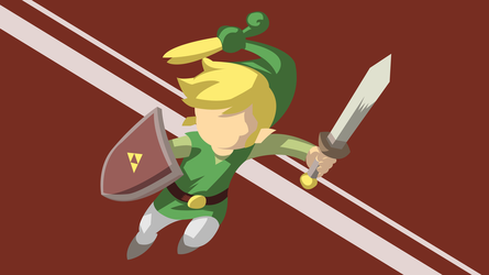 Minimal Minish Cap Wallpaper by Cheetashock