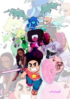 Steven Universe and the Crystal Gems ver.2 by arkahno