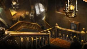 Pottermore Background: Hogwarts Staircases by xxtayce