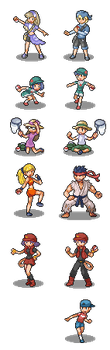 Trainer Sprites by Kyle-Dove