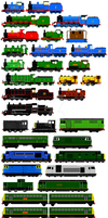 Sodor: The Early/Modern Years Engines 2 by JamesFan1991