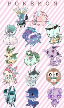 Pokemon Cuties1 by SweetGrotesquery
