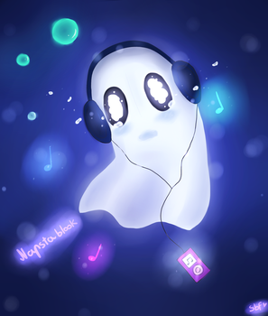 Napstablook [Undertale] by SummerBreezeFox