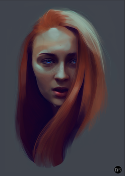 Sansa Stark by lizavanrees