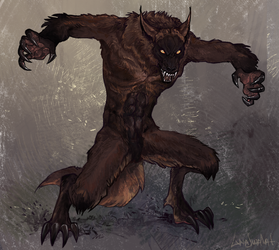 Werewolf Commission by LinaSwalaf