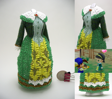 Dia, Harvest Moon: Magical Melody, Bead Dress by pinkythepink