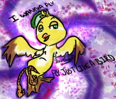 I Wanna Fly Just Like A Bird by Twin-Divinity