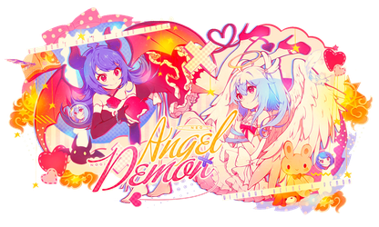 Angel and Demon collab w/nogi by MateNeo