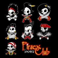 Piracy lovers Club by bluerabbit63