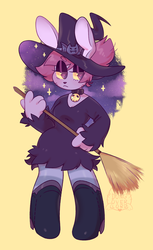 Witch Bunny Enid by dongoverlord