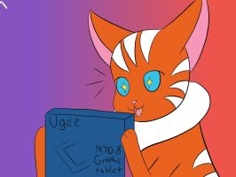 Guess who got a new tablet???? by Eveleencat