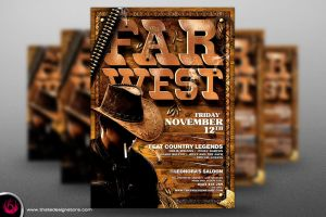 Western Farwest Flyer Template by Thats-Design