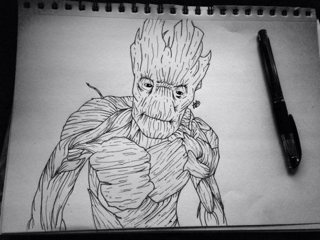 Groot. by Io-Andromeda
