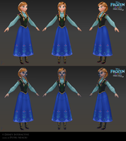 Anna - Low poly model for Frozen Free Fall by Shaka-zl