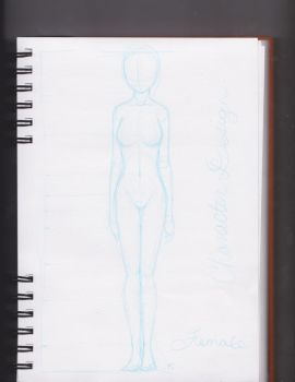 Female Character Design Template by SusanJohns