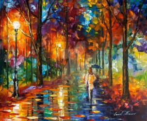 Path Towards Home by Leonid Afremov by Leonidafremov