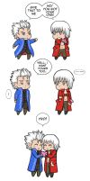 Dante and Vergil Valentine's Day | DMC3 ending? by Silent-Neutral