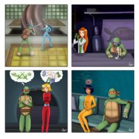 Totally spies n TMNT friendship square by laeity