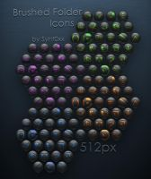 Brushed Folder Icons by Synt0xx