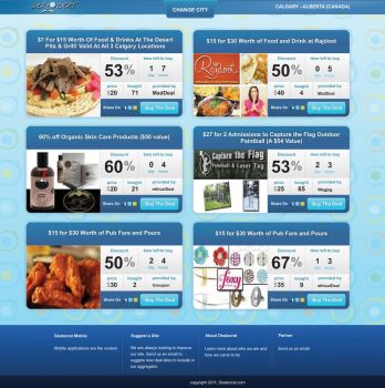 Daily Deal Web Design by cendhika