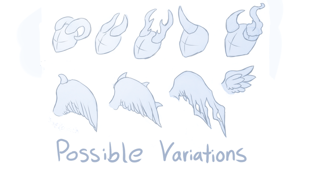 Horn and Wing Variations by MumzyHyenaBat