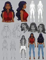 Aiofe - character sheet - commission by Precia-T