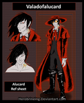 Alucard ref sheet [My style] by Dierinks