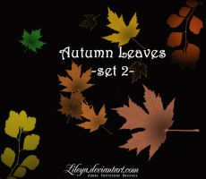Autumn Leaves set 2 by Lileya
