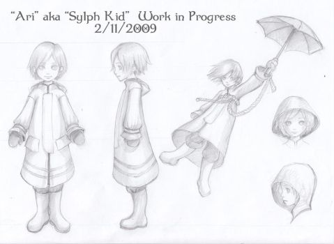 Sylph Kid WIP by AingealFay