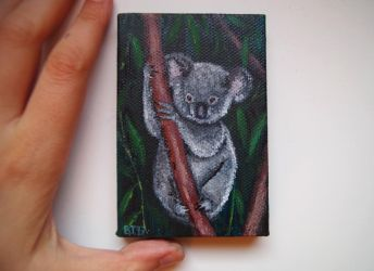 Miniature painting - Koala by siuteroq