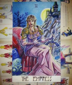 Zelda-Inspired Tarot Painting | The Empress by KenKokoszka