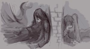 the death of Severus sketch by ymymy