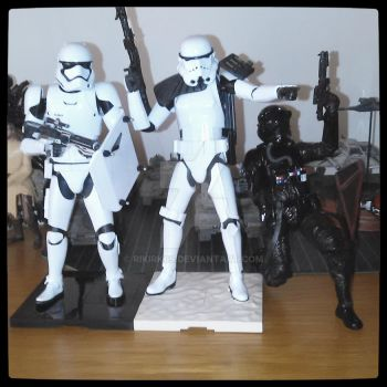 First order, Sandtrooper and TIE pilot. by Rikirk69