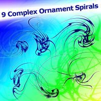 9 Complex Ornament Spirals by XResch