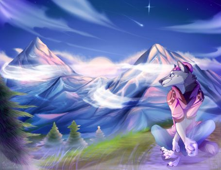 Morning Mountains by WesHound