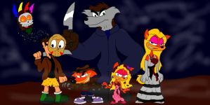 Happy Halloween from Team Bandicoot by SammyD-Productions