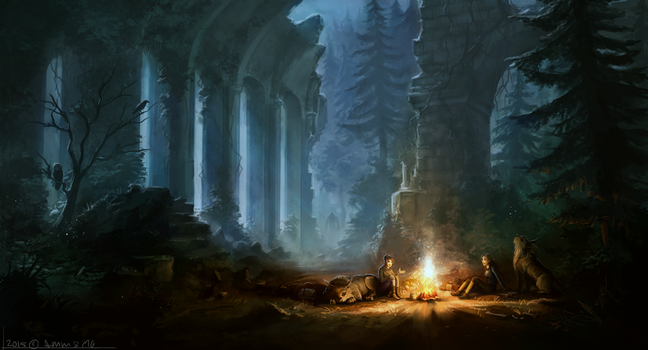 Collab: Ruins by AM-Markussen