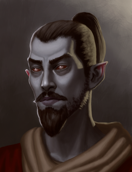 Portrait of a Dunmer by CChhim